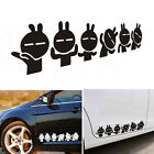 Enduring Rabbit Car Stickers 58*12cm Car Reflective Rear View Mirror Decal TBUS