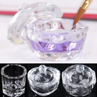 Unique Clear Nail Art Acrylic Crystal Glass Dappen Dish Liquid Powder Container