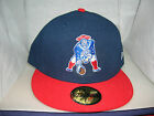 NEW ENGLAND PATRIOTS THROWBACK LOGO 59FIFTY NEW ERA FITTED HAT CAP