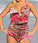 Sexy Chain Print pink One Piece MONOKINI SWIMSUIT SWIMWEAR UK Size 10 12 14