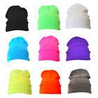 Bright Plain Colour Beanie Hat / Woolly Hat