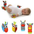 Lovely Infant Baby Kids  Animal Hand Wrist Bells Foot Sock Rattles Soft Toys S