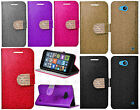 For Nokia Lumia 640 Diamante Glitter Leather Wallet Pouch Flip Phone Cover