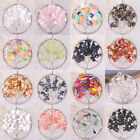 Mixed Round Tree of life-Crystal Opal Shell Beads wire wrapped stone Pendant
