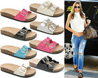 Ladies Women Sliders Platform Straps Summer Mules Flats Beach Sandals Shoes Size