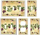 GRAPES ON A VINE K2 LIGHT SWITCH COVER PLATE   U PICK PLATE SIZE