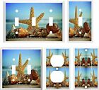 SEASHELLS  STARFISH OCEAN WAVES BEACH  LIGHT SWITCH COVER PLA  U PICK PLATE SIZE