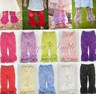 New Girls Kids Toddler Ruffle Legging Pants Elegant Lace Flower Leg Warmers 1-6Y
