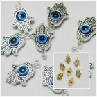 8/40/200pcs Hamsa Hand EVIL EYE Kabbalah Luck Charms DIY 19x12mm (Lead-free)