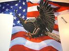 New Get a Life Patriotic flag eagle shirt mens size Small- XX-Large 4th of July
