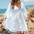 Sexy Sweet Swimwear Beachwear Bikini Top V Neck Tunic Cover Up Kaftan Lady Dress