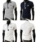 Mens Casual Slim Fit Short Sleeve T-Shirts Summer Sports Polo Tops Tee T-Shirts