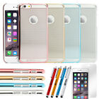 """For Apple iPhone 6 4.7"""" TPU Rubber Ultra Thin Bumper Clear Back Case Frame Cover"""