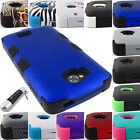 FOR LG TRIBUTE TRANSPYRE OPTIMUS F60 SHOCK PROOF TUFF ARMOR CASE COVER+STYLUS