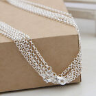 1/5/10Pcs Silver Plated Link Chain Lobster Clasp Necklace For Pendant Jewelry