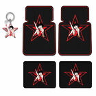 New Betty Boop Star Car Truck Suv Black Rubber Floor Mats & Keychain Made in USA $75.97 CAD