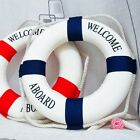 Home Decor Blue/Red Lifebuoy Life Ring Canal Lake River Boat Swimming Pool - CB