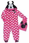 Girls Minnie Mouse Onesie Fluffy Pink With Little Storage Bag 18-24m to 12-13
