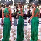 Women Green Elegant and Sexy Cocktail Party Evening Bridesmaid Long Dress