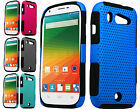 Us Cellular ZTE Imperial 2 MESH Hybrid Silicone Rubber Skin Case +Screen Guard