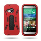 Rugged Hybrid Drop Protective Phone Stand Cover Case for HTC One Remix / Mini 2