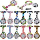 Funky Patterns Silicone Gel Print Nurse Doctor Tunic Fob Pocket Brooch Watch Hot