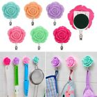 2x Rose Self Adhesive Door Wall Towel Hanger Holder Bathroom Kitchen Tile Hooks