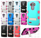 For LG G4 Rubber IMPACT TUFF HYBRID KICK STAND Case Phone Cover Accessory
