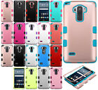 For LG G Stylo IMPACT TUFF HYBRID Protector Case Skin Phone Cover +Screen Guard