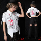 GOTHIC PUNK MAX 71318 SHOULDER WHITE SHIRT M-XL