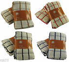 8 x Hampton Check Terry Tea Towels, 100% Egyptian Cotton Catering Kitchen Towels