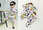 New Girls Toddler Snoppy Girl Dog Shirt Cute Outfit Top Pant Clothing Set 1.5-6T