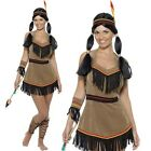 Ladies Native American Inspired Fancy Dress Costume Indian Outfit by Smiffys New