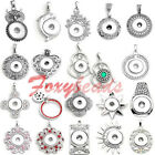 HOT Charm Snap Crystal/Alloy Beads Pendant Fit Buttons Buckle Necklace DIY Gift