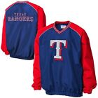 Texas Rangers Double Play V-Neck Pullover Jacket - Royal Blue/Red