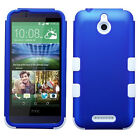 For HTC One M8/W8, Desire 510 Hybrid Tuff Rubber Protective Hard Case Cover