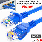 RJ45 Cat5e Etehrnet Network LAN Patch Cable Lead 10M 13M 17M 18M 19M 25M 40M 50M