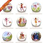 New 18PCS Mia and Me Cartoon Buttons Pins Badges 30mm Diameter,Kids Party Gifts