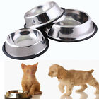 Stainless Steel Dog Pets Cat Rabbit Animals Food Feeding Bowls Metal Dish Gift
