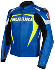 Suzuki GSXR GSX-R Gixxer Leather Jacket Blue & Yellow