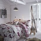 Stag Flannelette Fitted Sheets Soft Cotton, Single Double King Size Bed Sheets