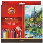 Koh-I-Noor Mondeluz Aquarell Colored 24/36/48/72 Watercolor Soluble Pencil Set