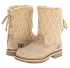 Womens CAT Caterpillar Bruiser Scrunch Fur Lined Houndawg Ankle Leather Boots