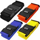 STRONG ADJUSTABLE COMBINATION LUGGAGE TRAVEL SUITCASE STRAP BELT LOCK PASSCODE