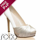 Ladies Designer Bridal Shoes Ivory Wedding Bridesmaid High Heel Rainbow Club