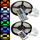 Waterproof 5M RGB 5050 SMD LED Strip Light 300LEDS+24/44Key IR remote controller