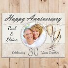 Personalised Pearl 30th Wedding Anniversary PHOTO Poster Banner N50