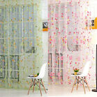 Hot Floral Scarf Sheer Voile Door Window Curtain Drape Panel Tulle Valances