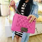 Women Lady Fashion PU leather Knitted Knitting Shoulder Bags Cross Body Bag S