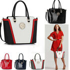 Ladies Women's Fashion Designer Quality Handbags Tote Bags Faux Leather Large